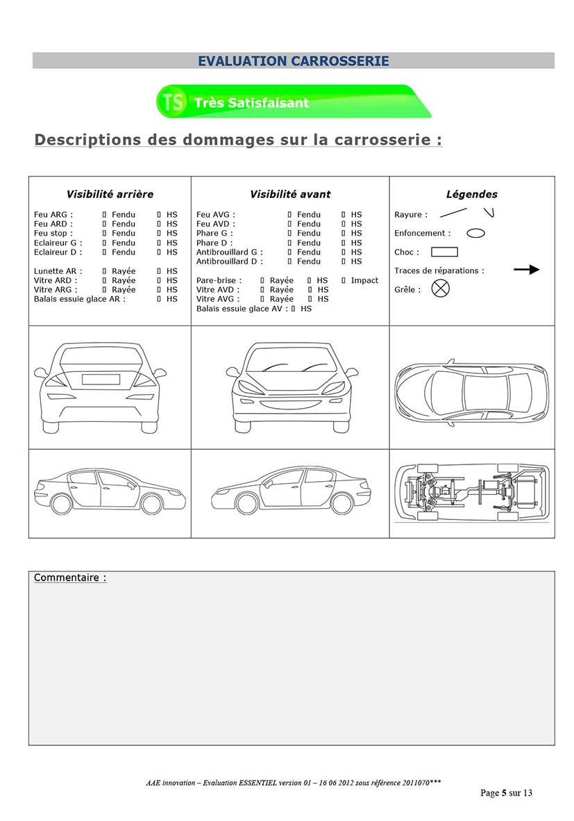 page d'évaluation