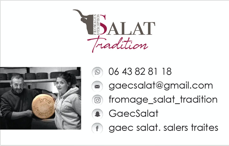Carte de visite Salat Tradition VERSO