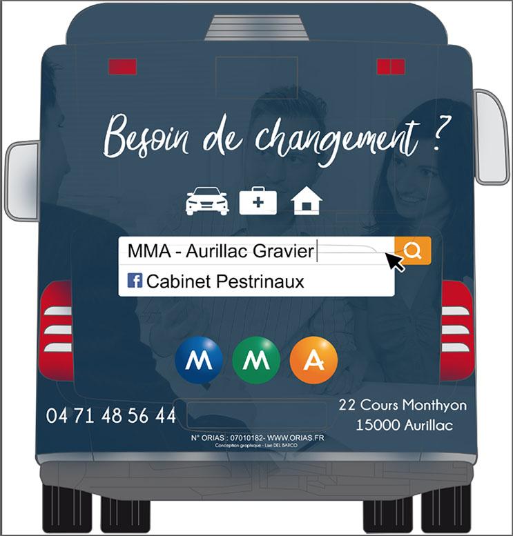 Flocage MMA sur bus