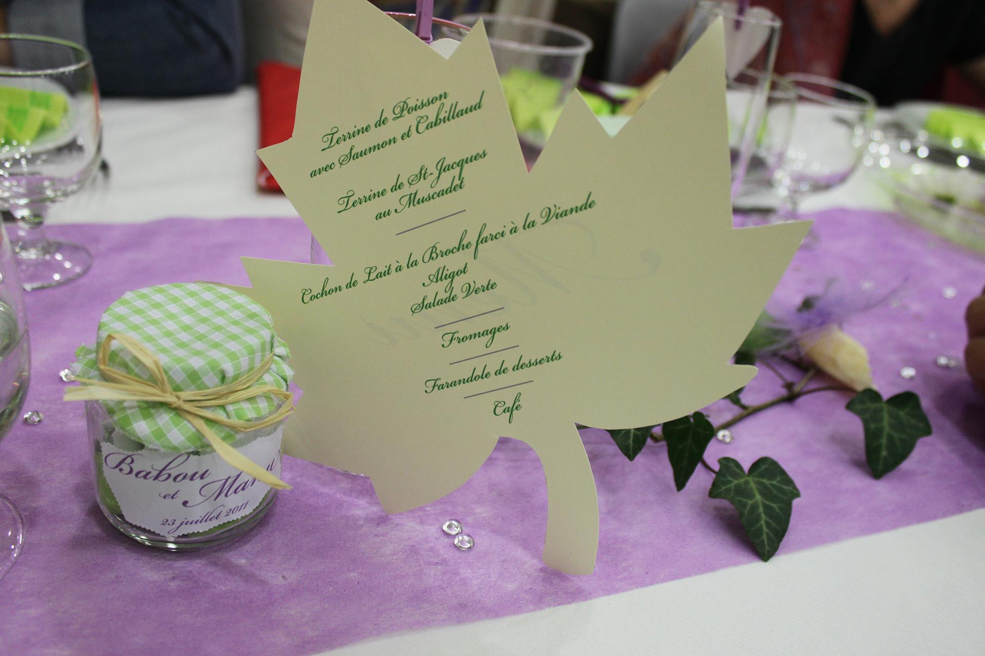 menu verso