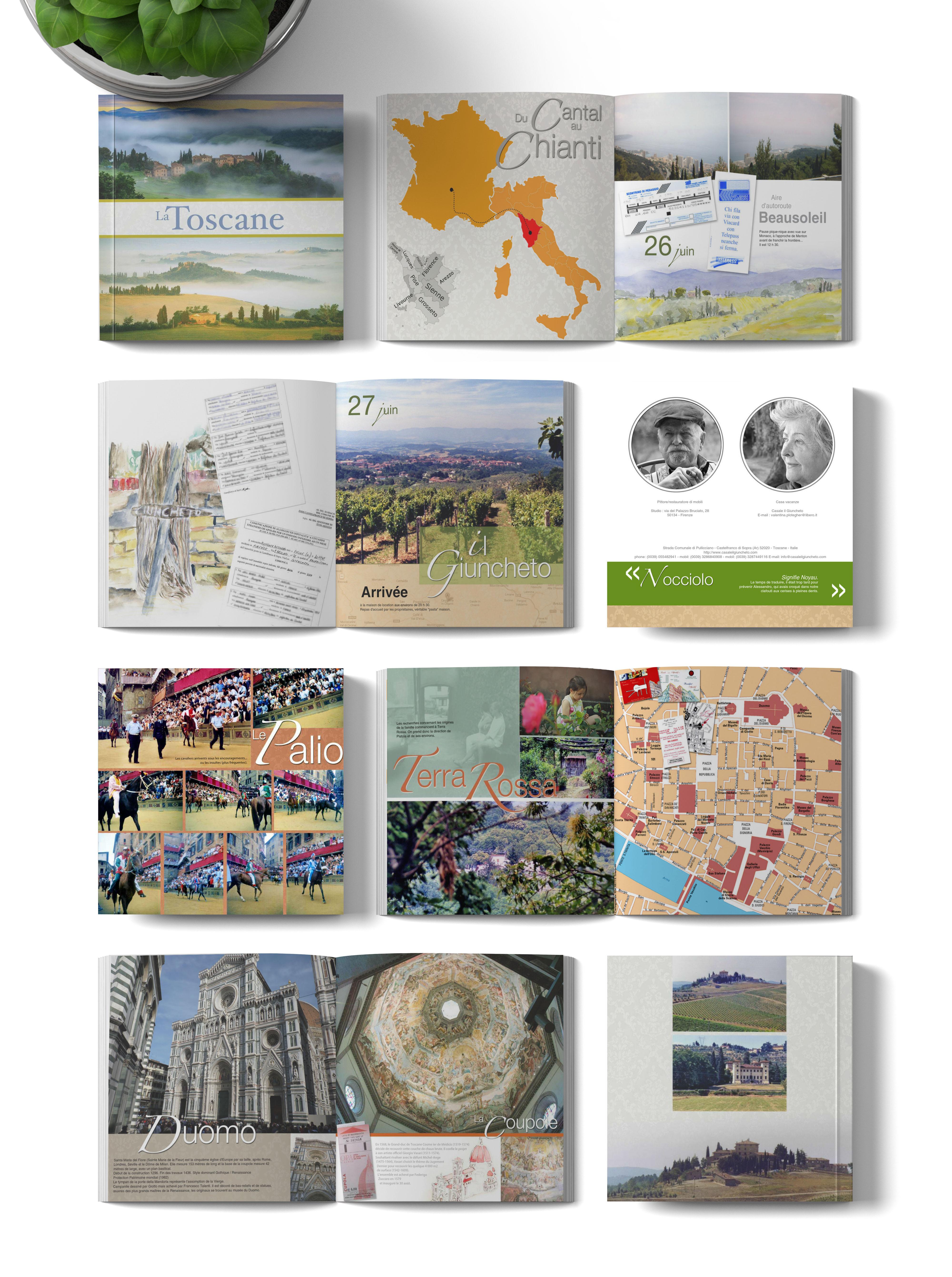 Pages du livre Toscane